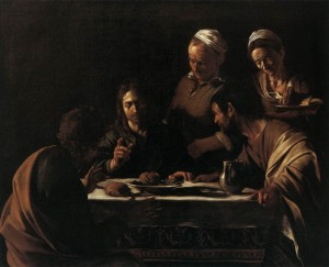The Supper in Emmaus, Caravaggio, 1602
